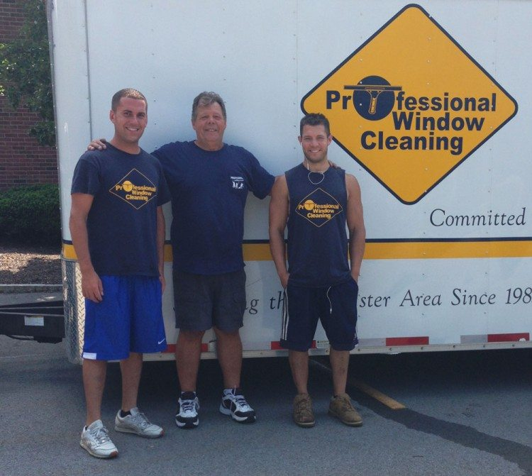 The Professional Window Cleaning crew - Mike, Bob and Robbie